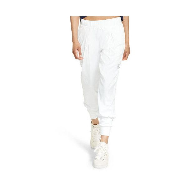 Polo Ralph Lauren Perforated Jogger Pant ($90) ❤ liked on Polyvore  featuring pants,