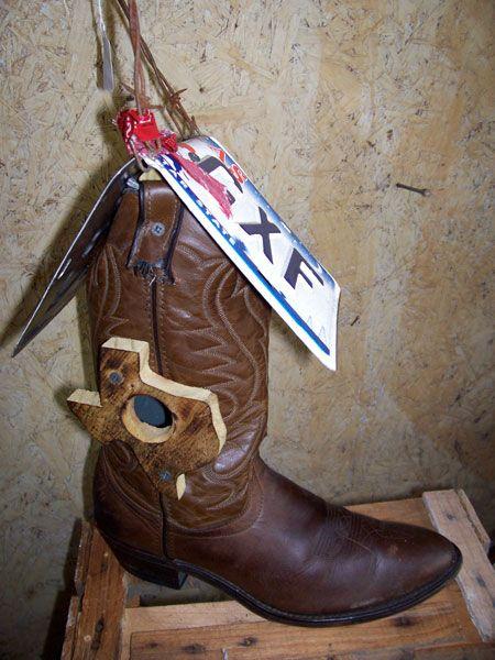 Cowboy Boot Birdhouse Bird House Bird Houses Diy Boots