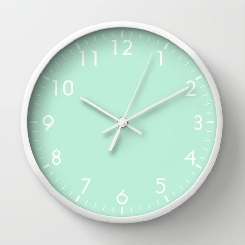 Mint Green Wall Clock by Beautiful Homes