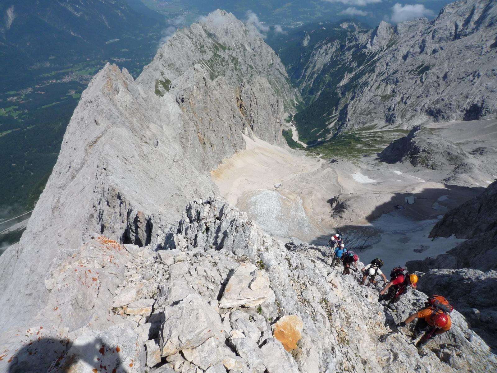 Klettersteig Deutschland : Klettersteig höllental zugspitze in deutschland