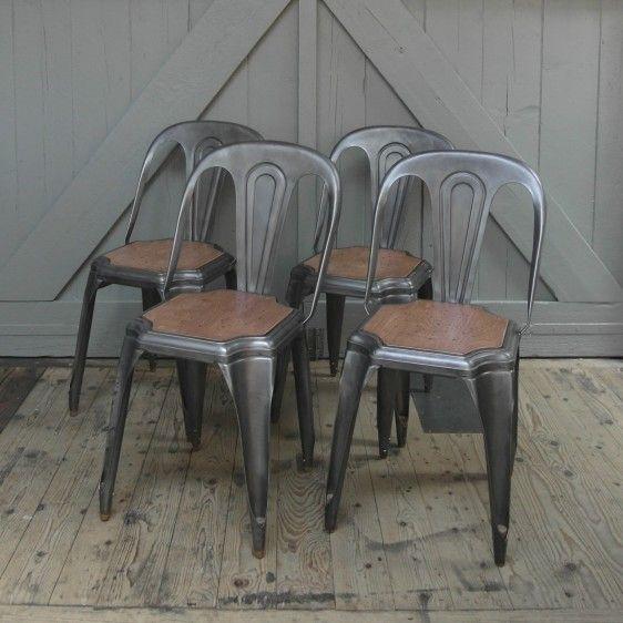 Vintage metal chair by Fibrocit (Bruxelles (Belgium), 1950's. Brushed. @ Harvest & Co.