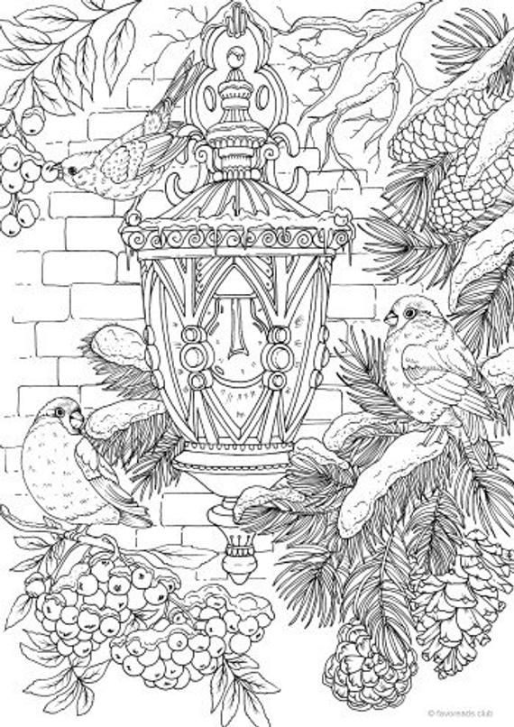 Lantern - Printable Adult Coloring Page from Favoreads (Coloring ...