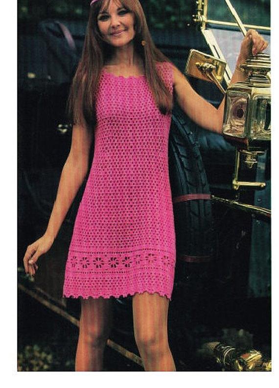 Crochet DRESS Pattern Vintage 70s Crochet Midi Dress Pattern Crochet ...