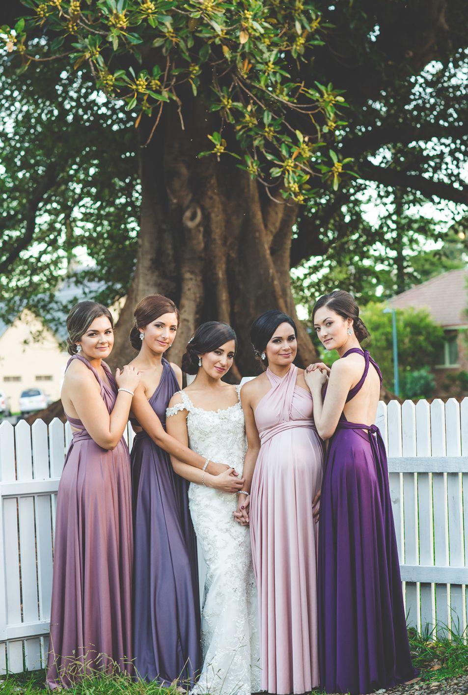 Different colour dresses for each bridesmaid love this look of different colour dresses for each bridesmaid love this look of goddess by nature signature multiway ombrellifo Choice Image