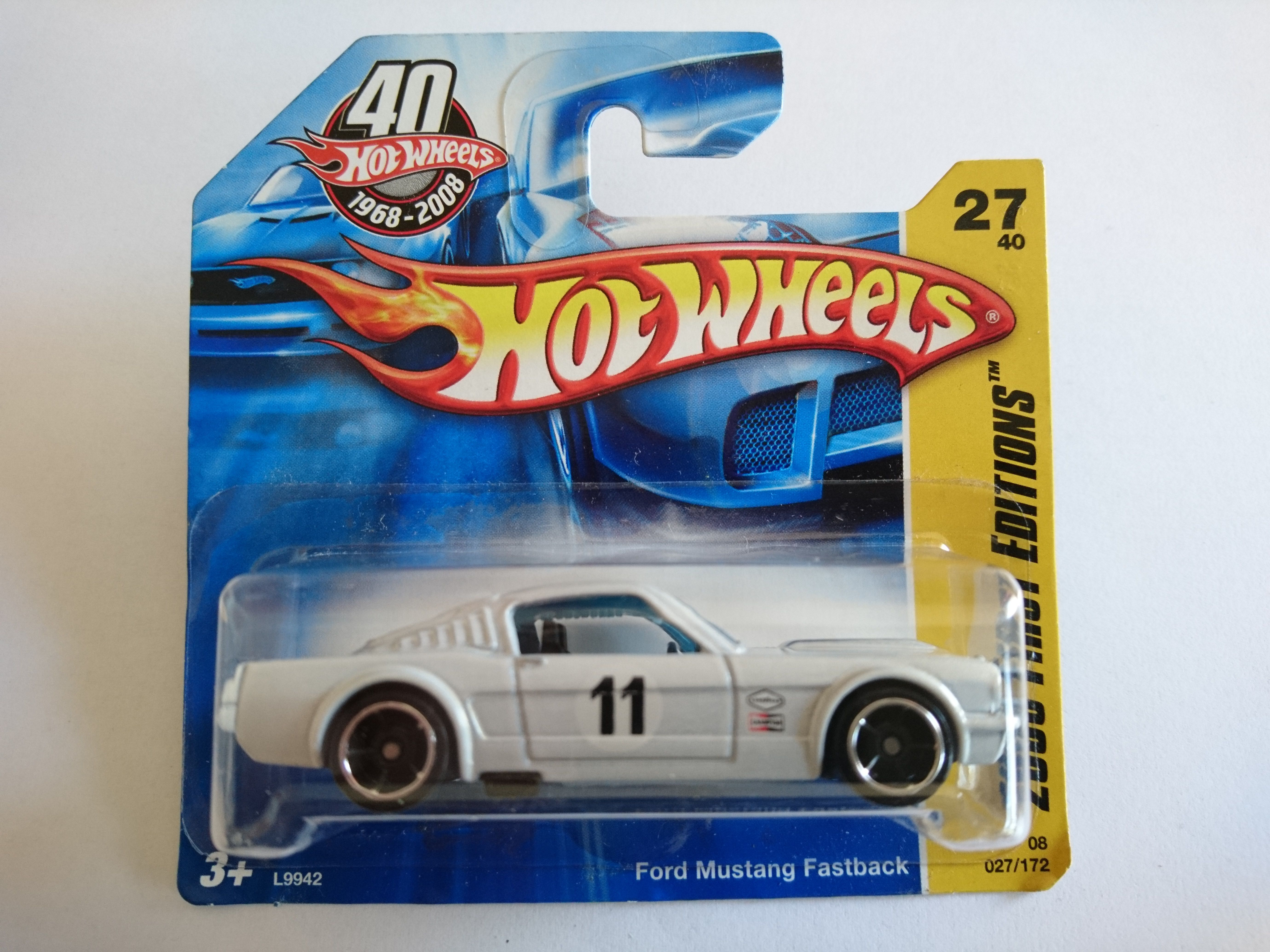 2008 ford mustang 1965 fastback hot wheels