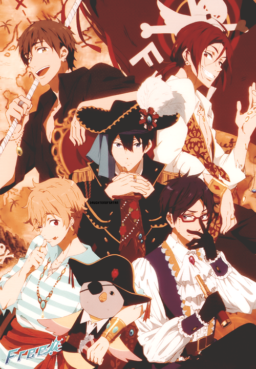 Free! Official Art PIRATES > How do they keep Haru from