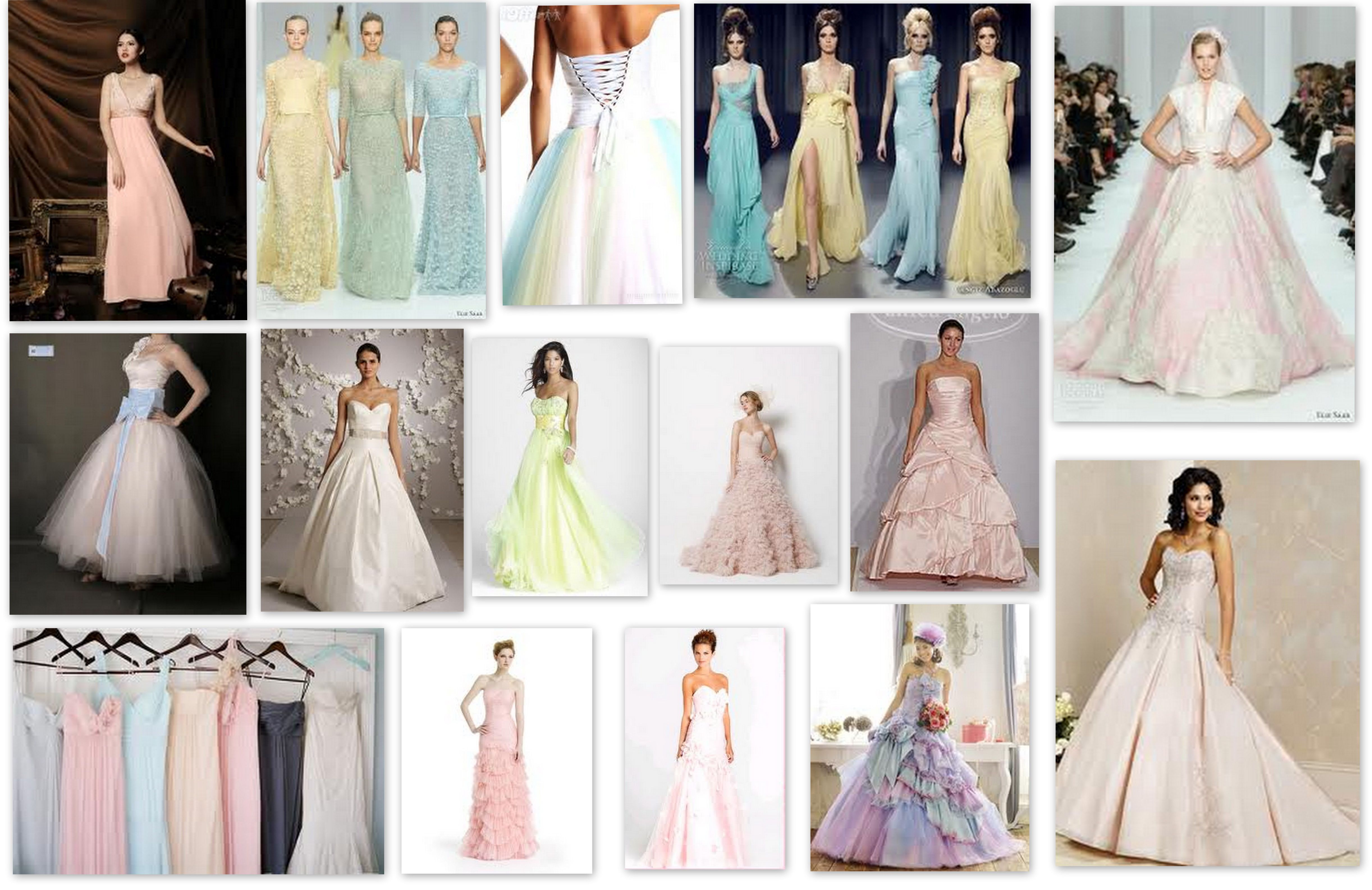 Colour Of The Week Pastel Dream Irish Wedding In Bridesmaid Dresses