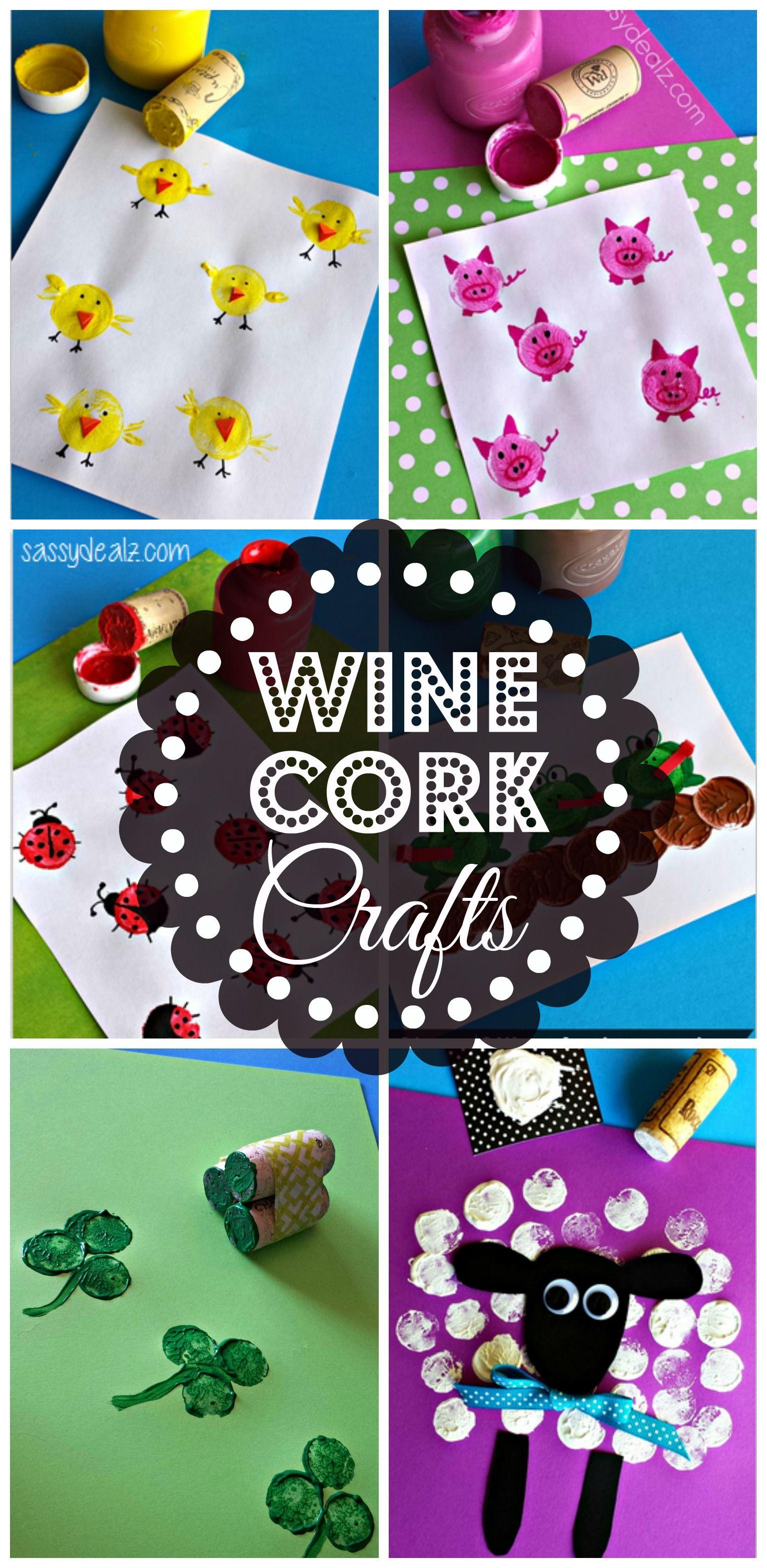 Wine Cork Crafts & Art Project for Kids #DIY #Kids crafts | http://www.sassydealz.com/2014/04/wine-cork-crafts-art-project-kids.html
