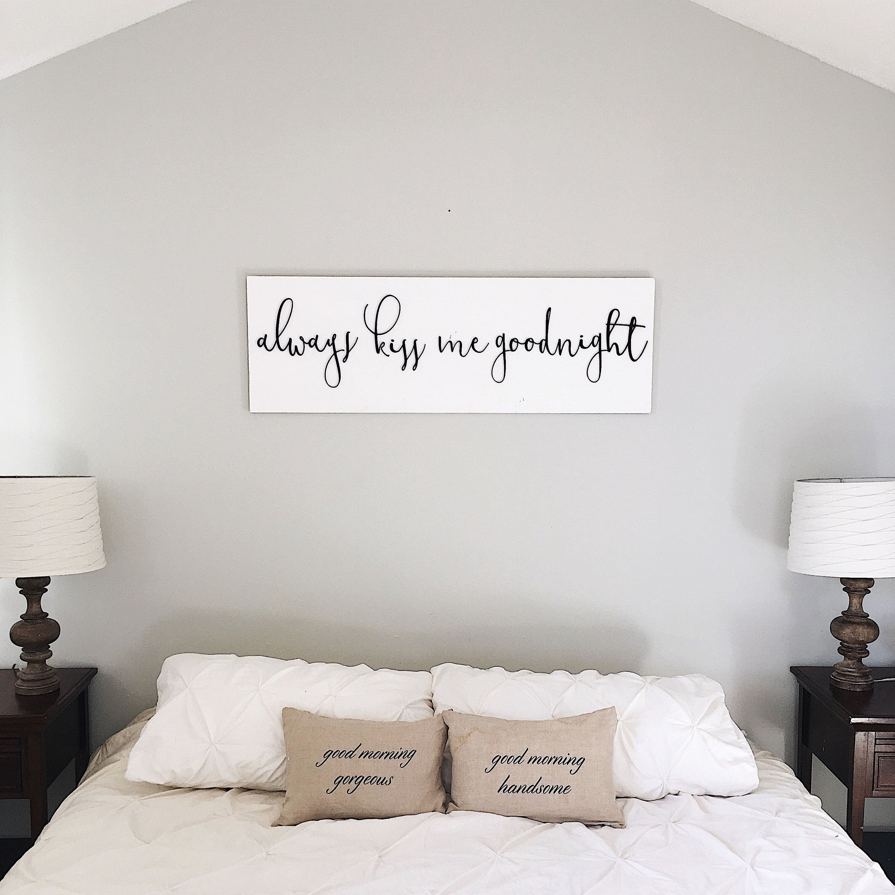 Pin On Hanging Pictures Above Bed