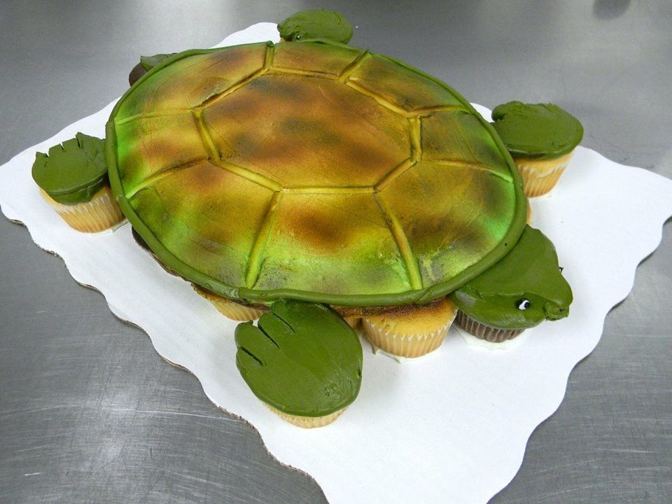 Turtle 24count cupcake cake by Leslie Schoenecker Walmart