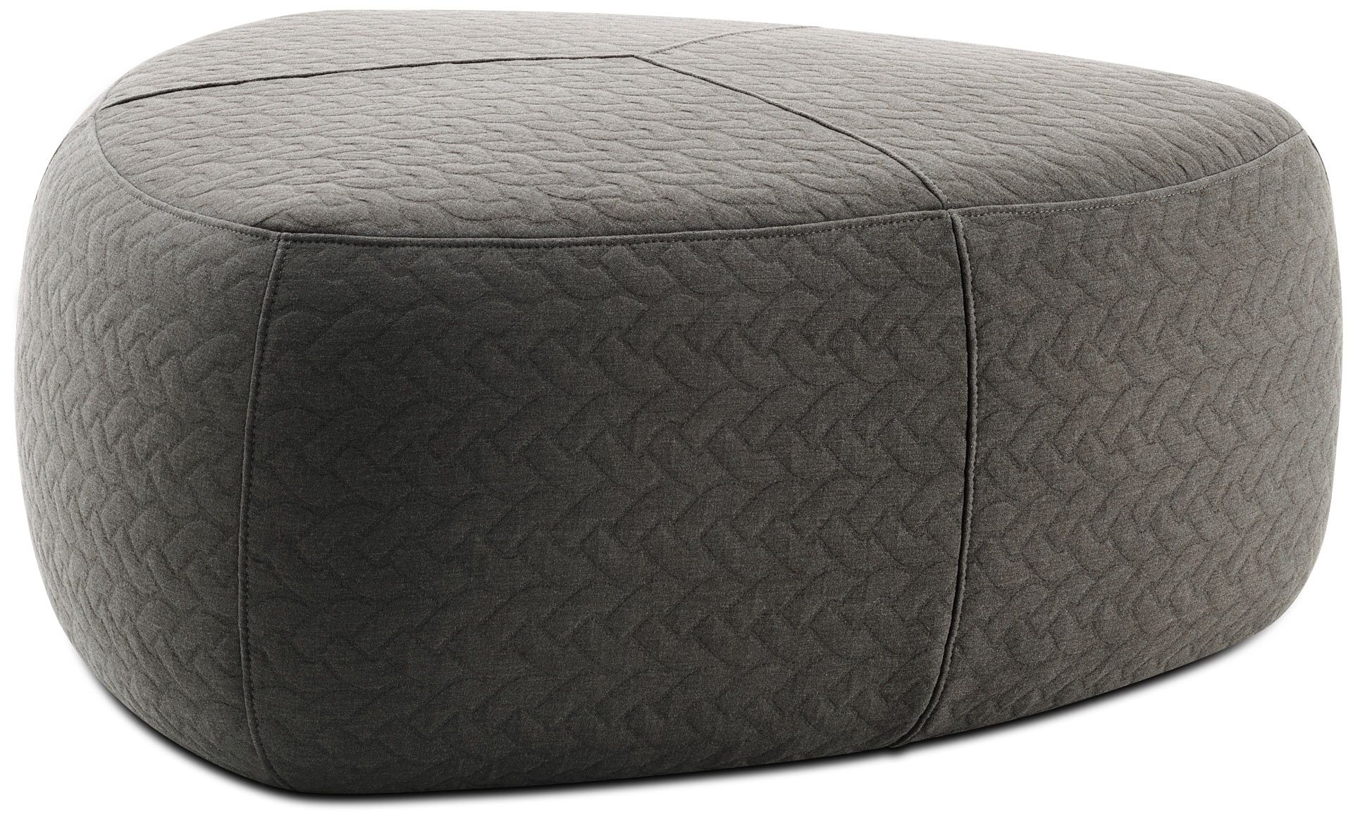 Boconcept Ottoman Available In Fabrics And Leathers As Shown Gray Moss Fabric H16 Xw38xd38 Modern Footstool Modern Ottoman Footstool
