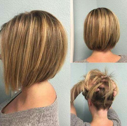 Mid bob with undercut