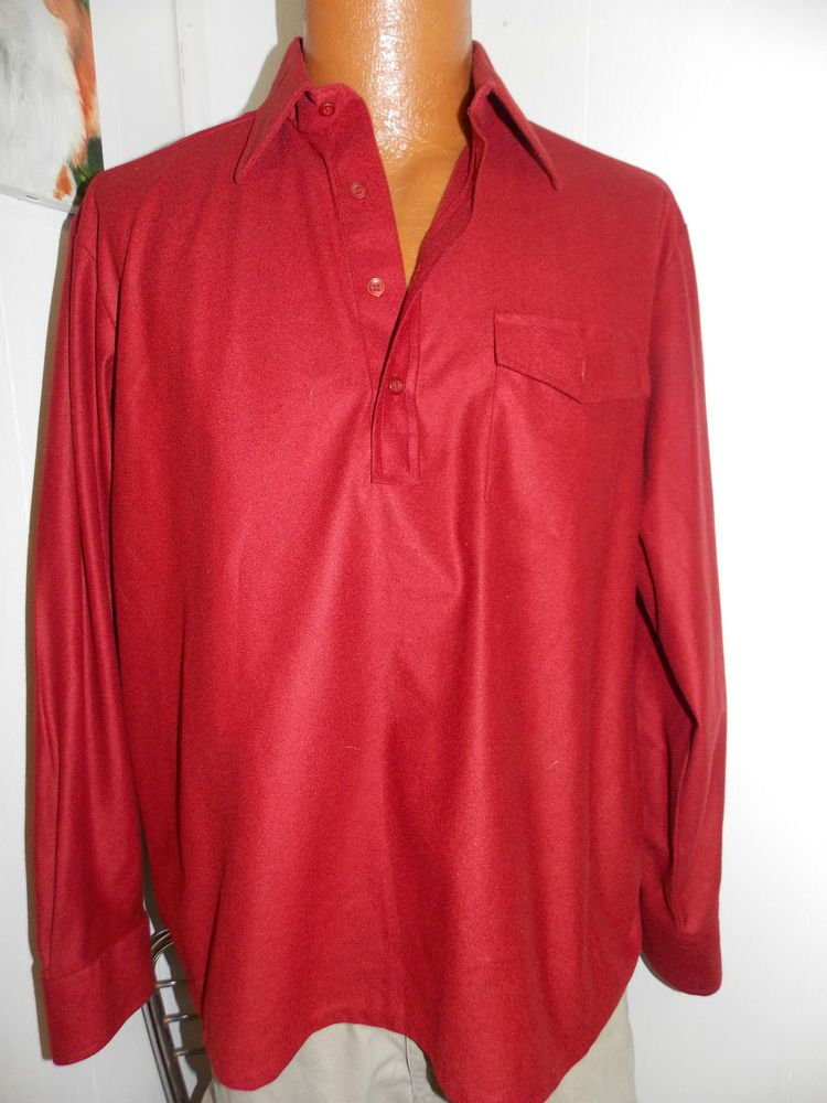 d6601b19 VINTAGE KINGS ROAD SEARS Disco Polyester & Nylon SHIRT Mens Size Large # Kingsroad #Henley
