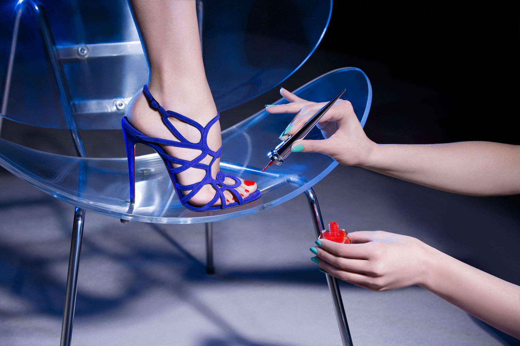 Guillaume Thomas - Cage Sandals for Christian Louboutin