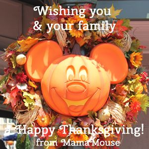 Happy Thanksgiving from MamaMouse.com!