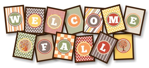 printable banner to welcome fall fall my favorite time of year