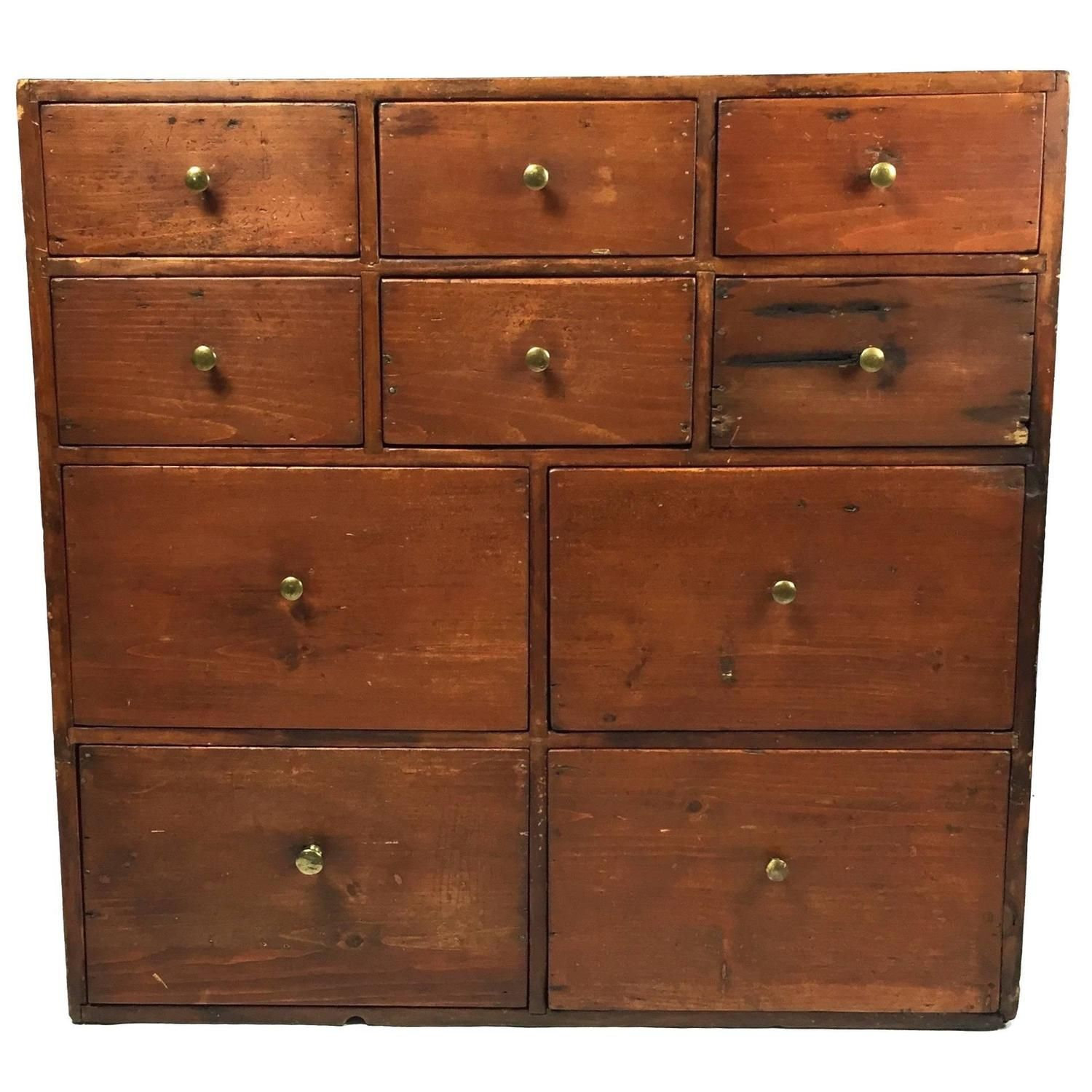Beautiful Early American Apothecary Multi Drawer Cabinet