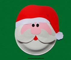 santa claus paper plates google search - Santa Claus Craft