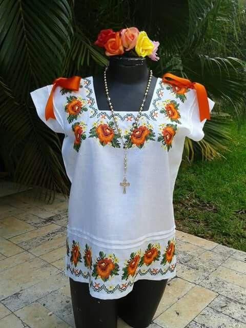 Huipil 4 | peninsula de yucatan | Pinterest