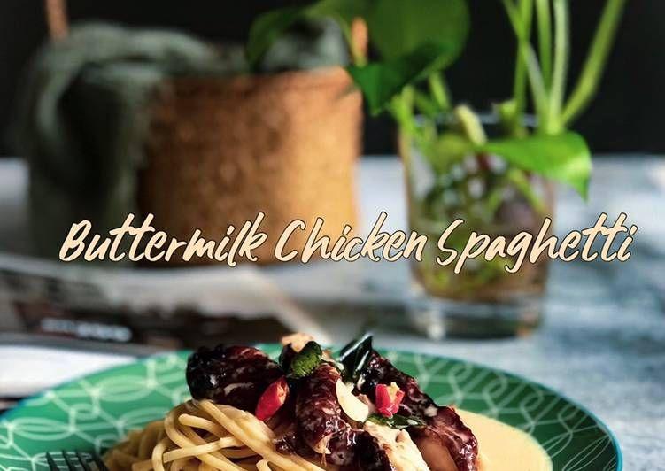 Cara Memasak Buttermilk Chicken Spaghetti Dapurazahzara Yang Lezat Aneka Resepi Enak Resep Di 2020 Buttermilk Resep Memasak