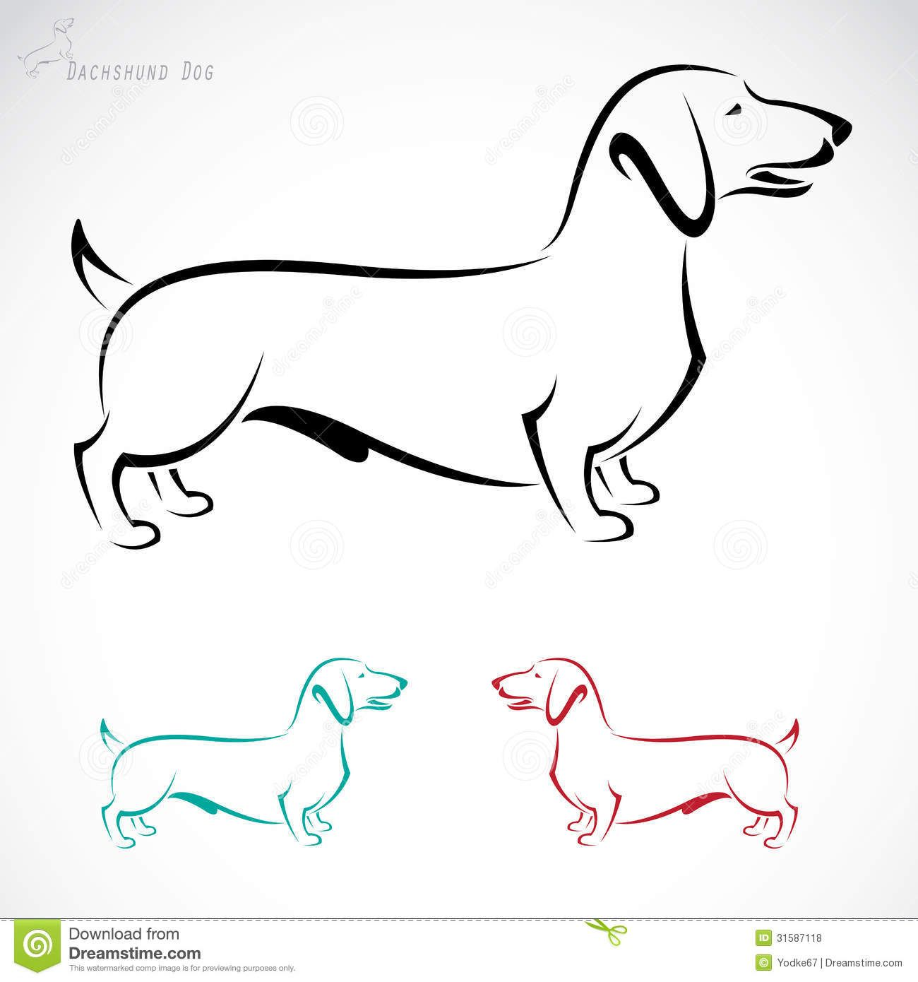 Dachshund Drawings Silhouettes