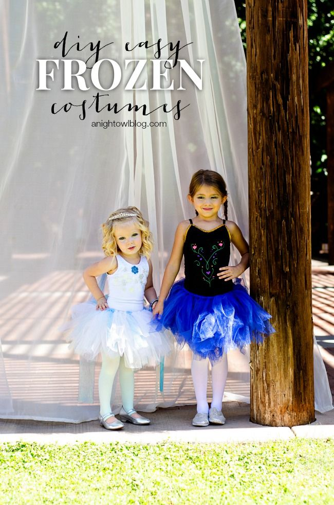 DIY Frozen Halloween Costume by Kimberly {A Night Owl}