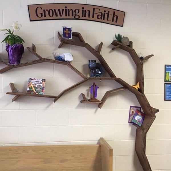 The Windswept Oak Tree Shelf In 2020 Tree Bookshelf Tree