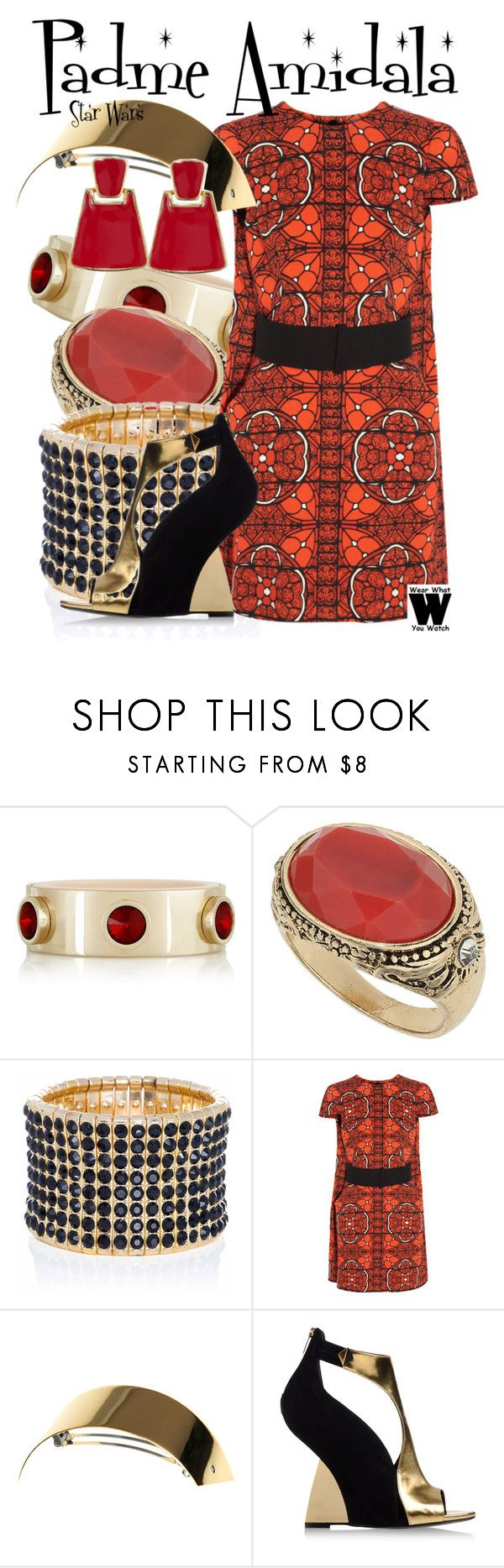 Star Wars by wearwhatyouwatch on Polyvore featuring moda, Alexander McQueen, Sergio Rossi, Ingenious Jewellery, Dorothy Perkins, Givenchy, Kenneth Jay Lane, HAIR DESIGNACCESS, wearwhatyouwatch and film