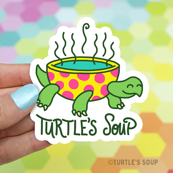 Turtles soup vinyl sticker brand sticker logo sticker car stickers laptop stickers