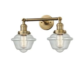 Photo of Innovations Lighting Small adjustable Oxford 2 lamp (lamps included / vintage light bulb included / LED dimmable – shabby – brushed brass – LED