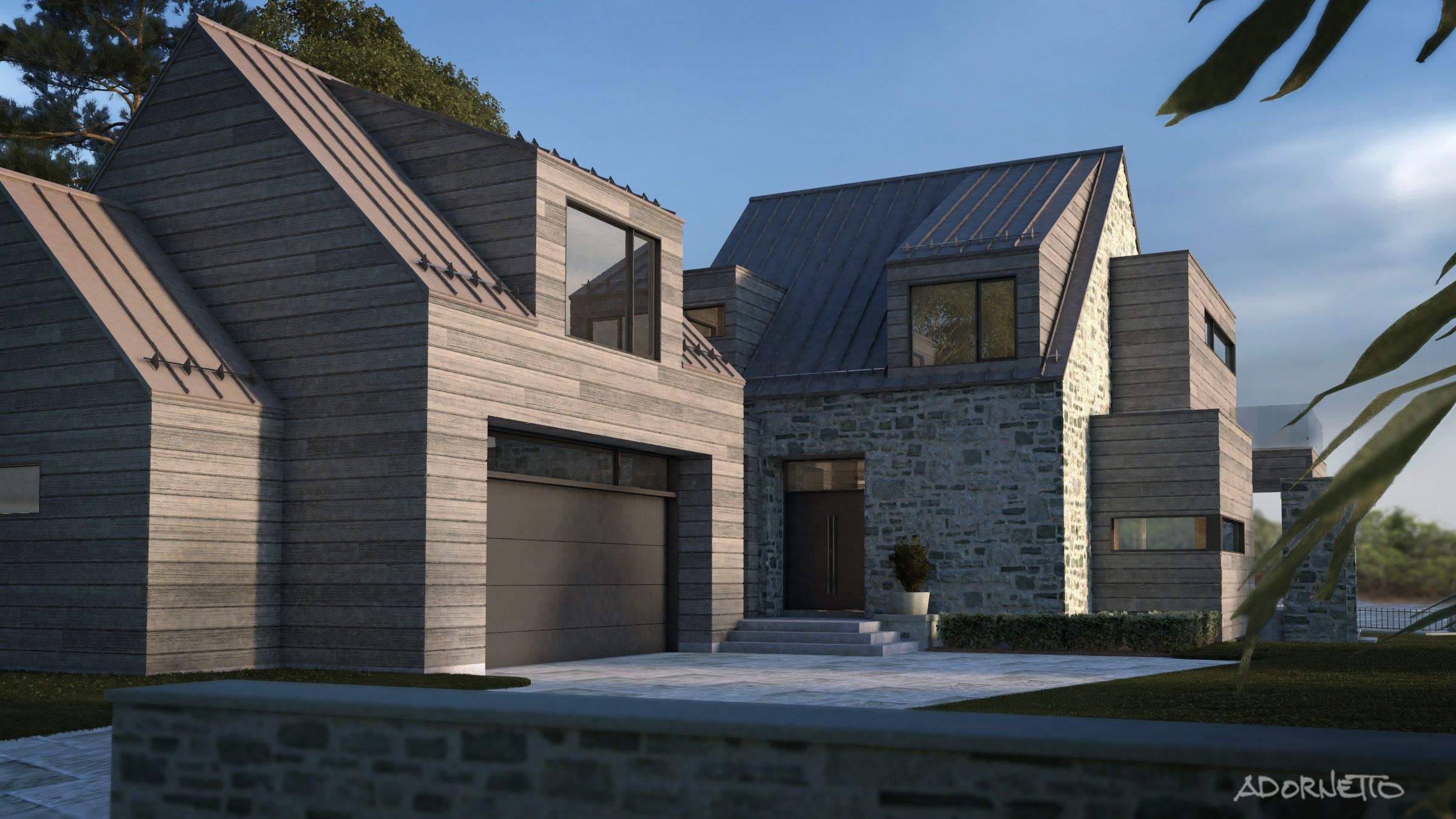 les maisons metisses adornetto mario adornetto With plan de maison facade 4 le refuge adornetto