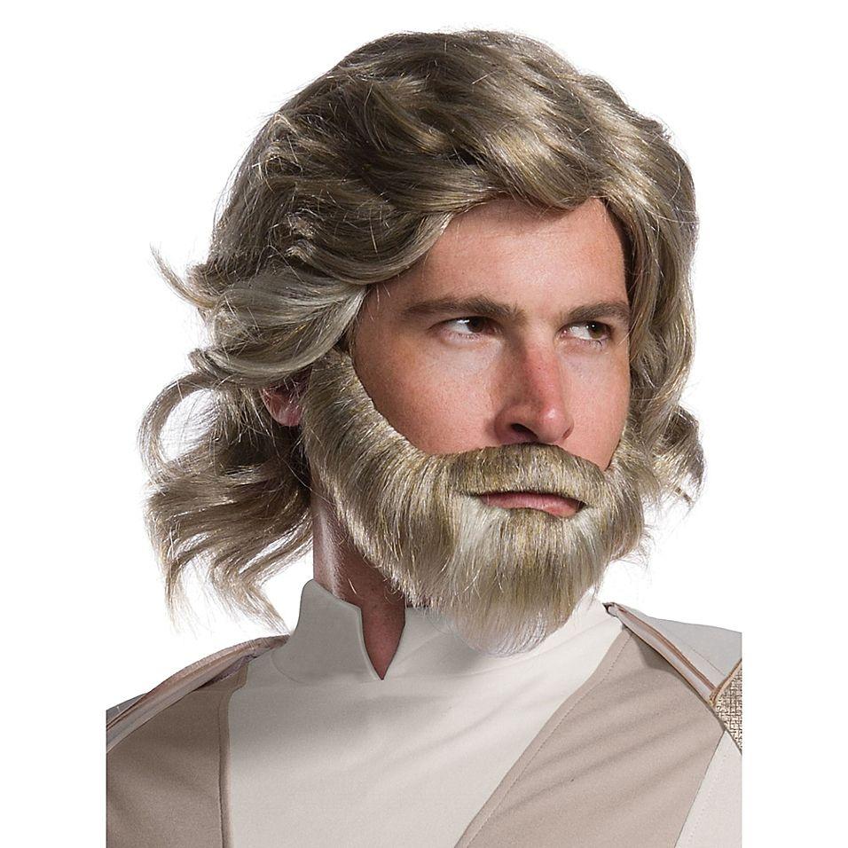 Grey 8/'/' Beard /& Moustache Facial Hair Costume Set