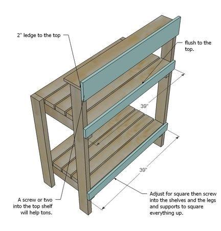 Simple Potting Bench | Potting bench plans, Pallet potting ...