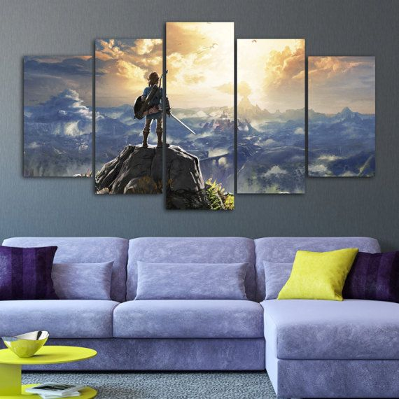 The Legend Of Zelda Wall Art Canvas Breath Of By Charmofcanvasart