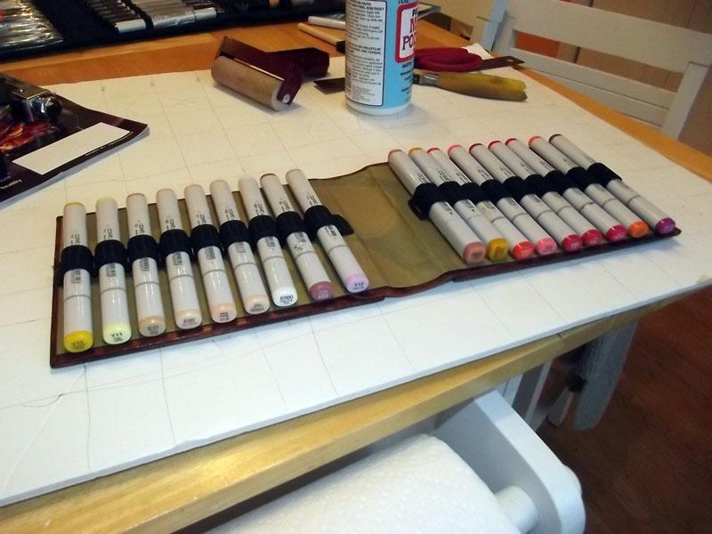 DIY Art Marker Storage By WS Ann