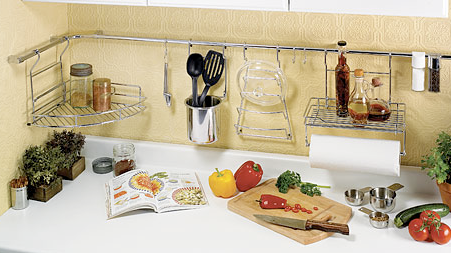 Elegant Wall Mount Storage System Modern Hooks And Hangers. Kitchen ...