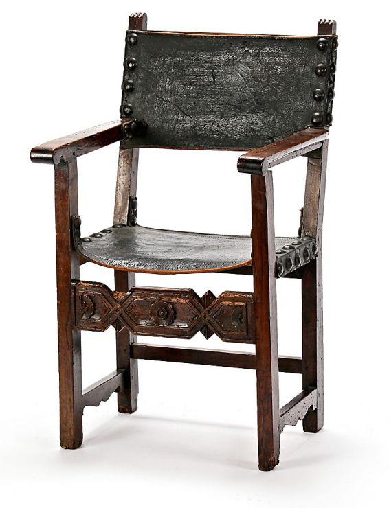 Renacimiento en espa a sillon frailero mitad del s xv y for Subastas muebles madrid
