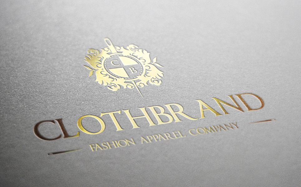 Cloth Brand Crest  Logo Template is part of Brand Clothes Logo - Cloth Brand Crest Logo Design Template  Luxurious Elegant Vintage Boutique Logo Fashion Emblem