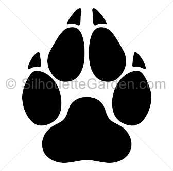 Wolf Paw Print Silhouette Wolf Paw Print Wolf Paw Paw Print Art Also paw logo png available at png transparent variant. pinterest