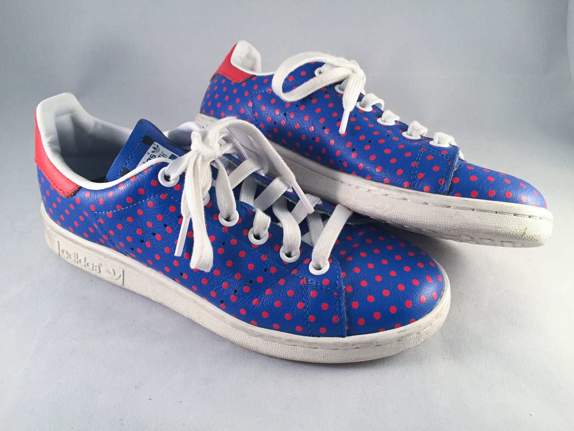 sports shoes 70804 0849d Adidas PW Stan Smith SPD Polka Dots Blue and Red - Sz 5 ...
