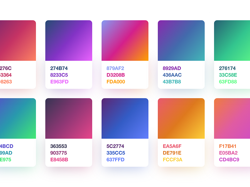 3 step gradients freebie ui ux logos and graphic design trends