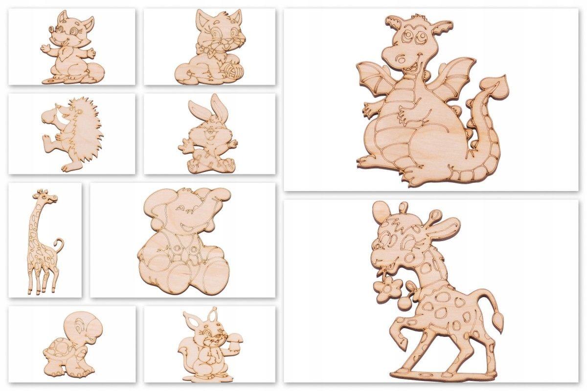 Dekory 3d Sklejka Decoupage Eko Ozdoby Dla Dzieci 7610658330 Oficjalne Archiwum Allegro Childrens Room Decor Wooden Animals Kids Toys