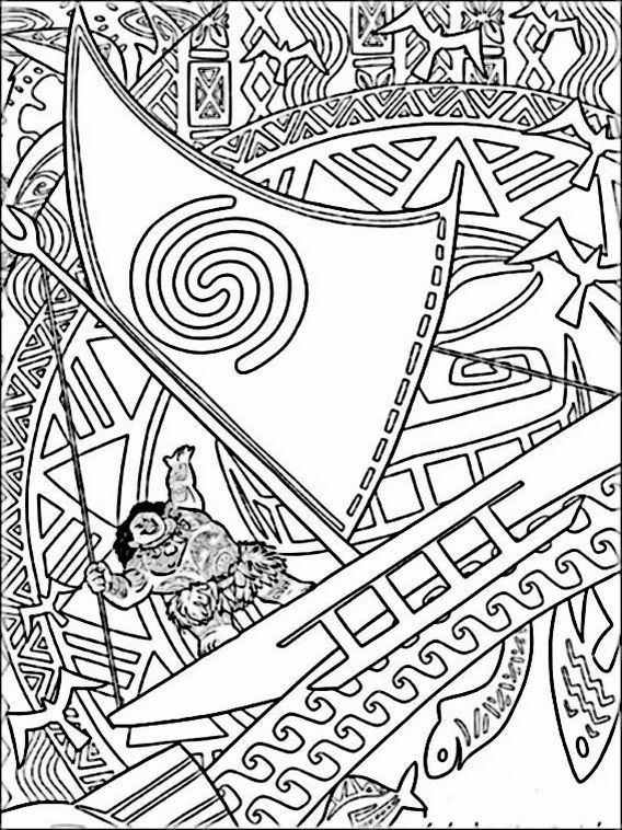 Vaiana Moana Coloring Pages 6