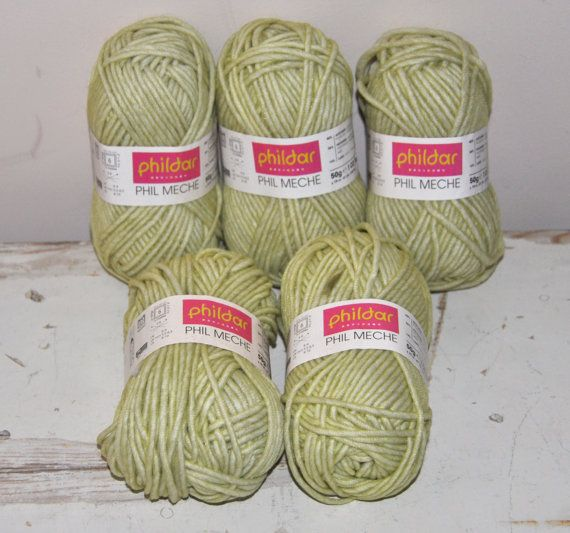 Phildar Phil Meche Tilleul  Acrylic Nylon Wool Mix  door BebesBazaar