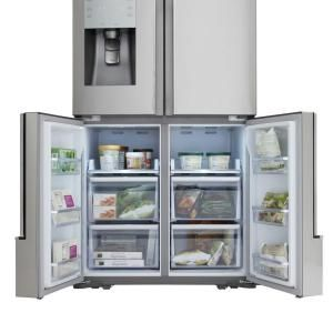 Samsung 317 Cuftfrench Door Refrigerator In Stainless Steel Entrancing Home Depot Kitchen Doors Review