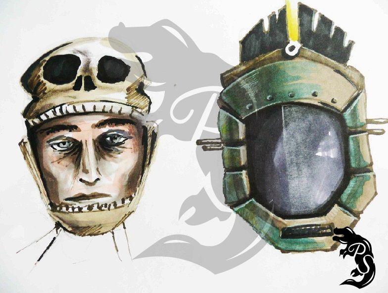 Bocetos de máscaras.