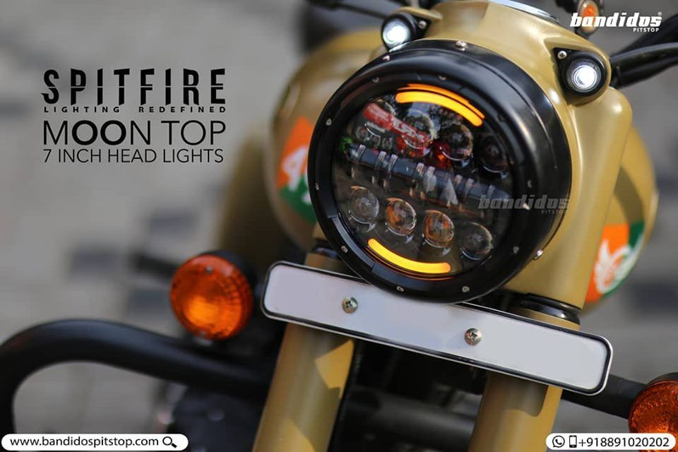 The Best Looking Custom 7 Inch Headlight From Spitfire For Royal