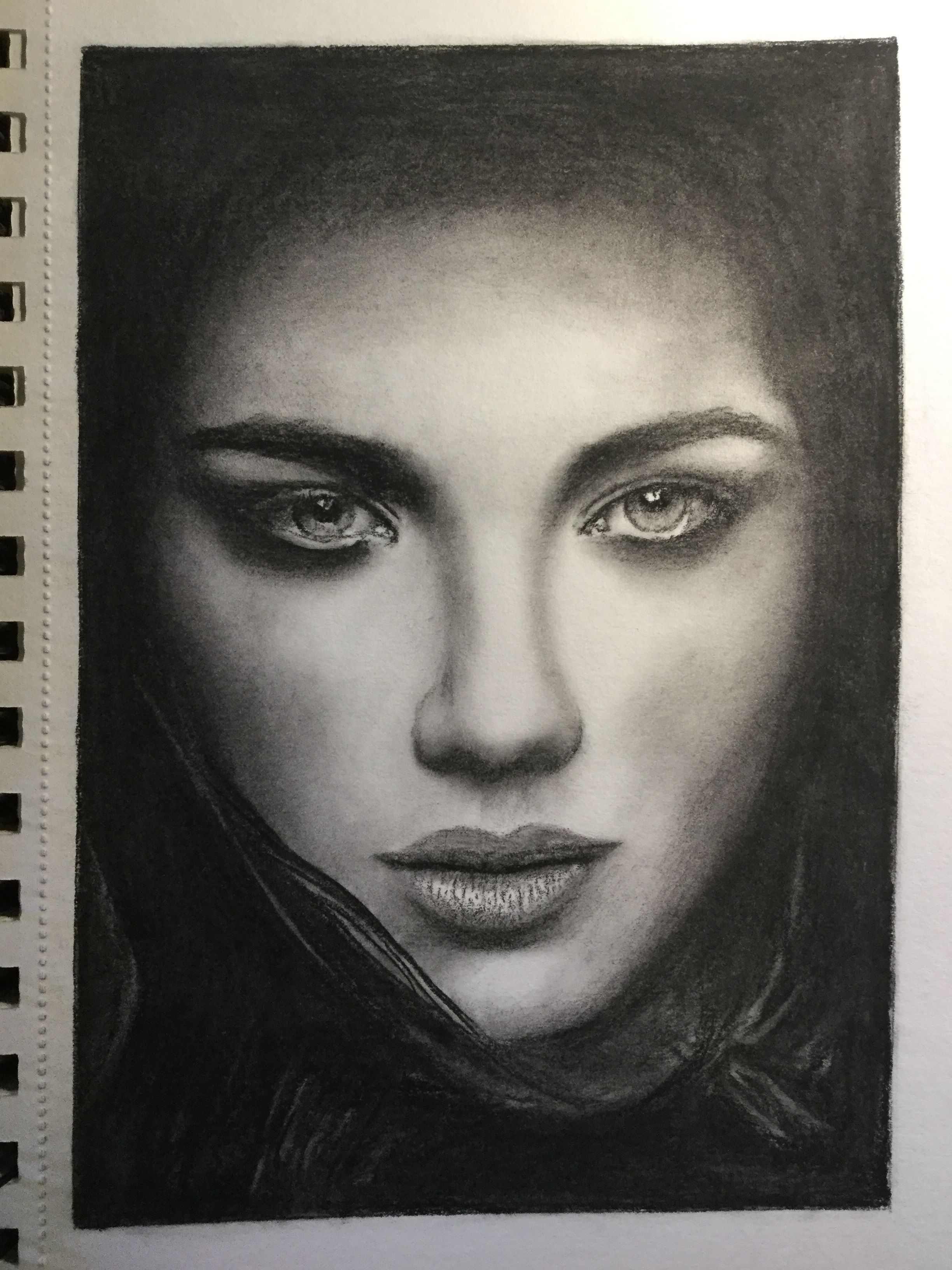 Charcoal Sketch Of A Woman S Face James Colter Charcoal Sketch Woman Face Drawing Websites