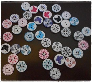 Beautiful patterned buttons