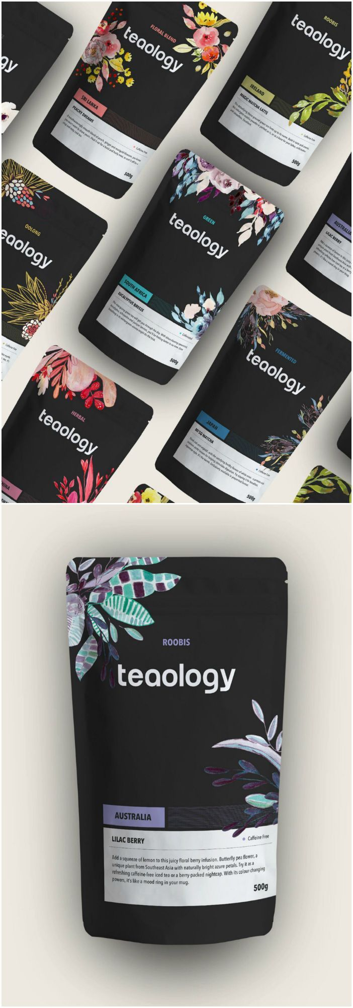 Modern Branding and Design for Teaology - #Branding #Design #Modern #packaging #Teaology #branddresses